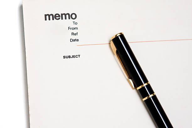 Blank memo pad notebook stock photo