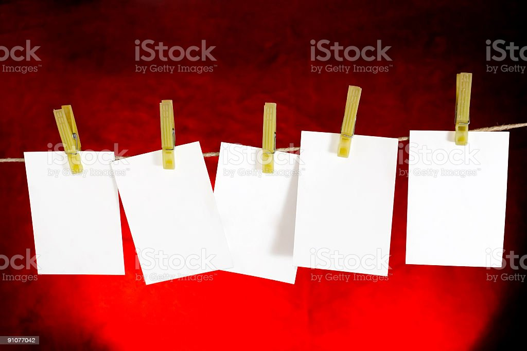 Blank memo Sheets with place for your text royalty-free stock photo