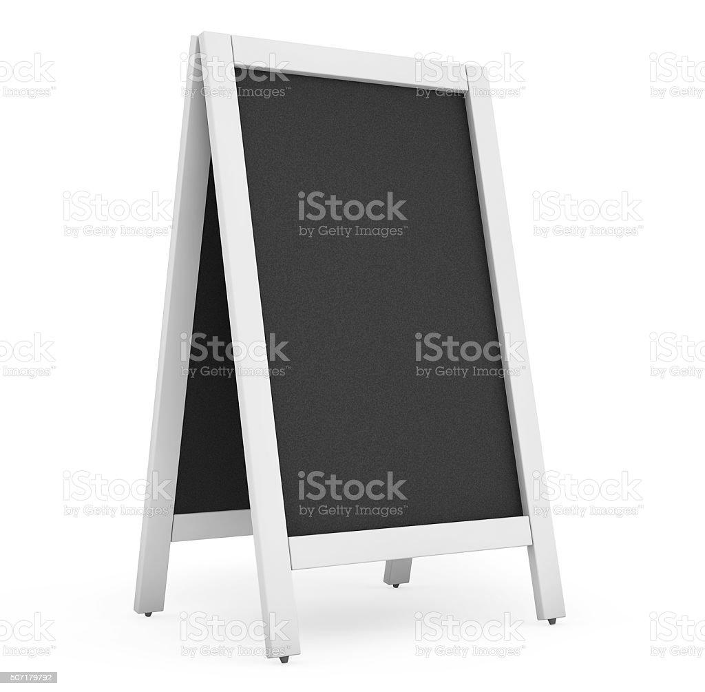 Blank Menu Blackboard Outdoor Display stock photo