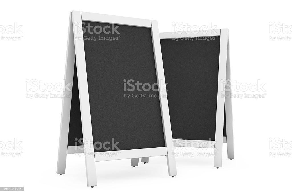 Blank Menu Blackboards Outdoor Display stock photo