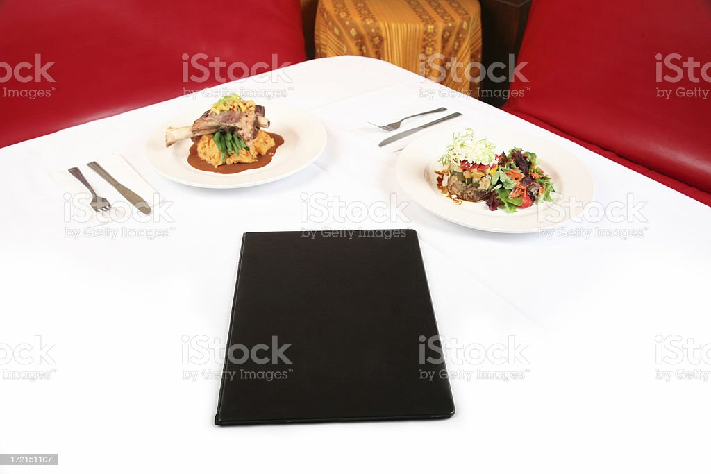 Blank Menu royalty-free stock photo