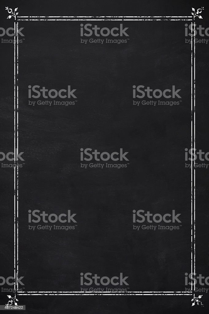 Blank menu stock photo