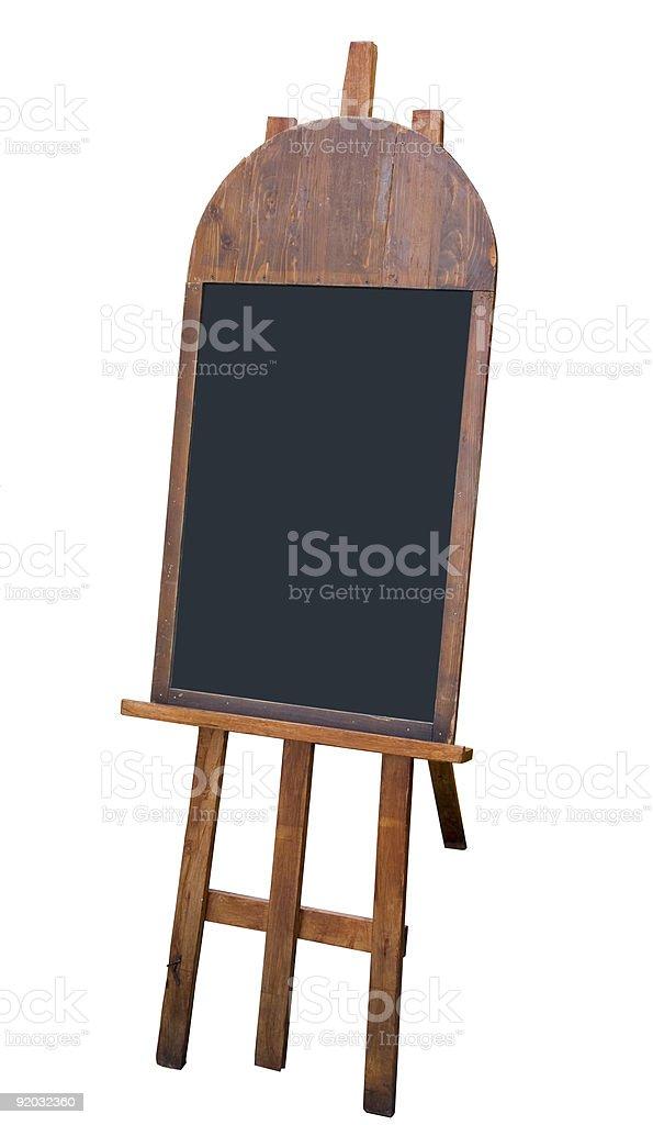 Blank menuboard royalty-free stock photo