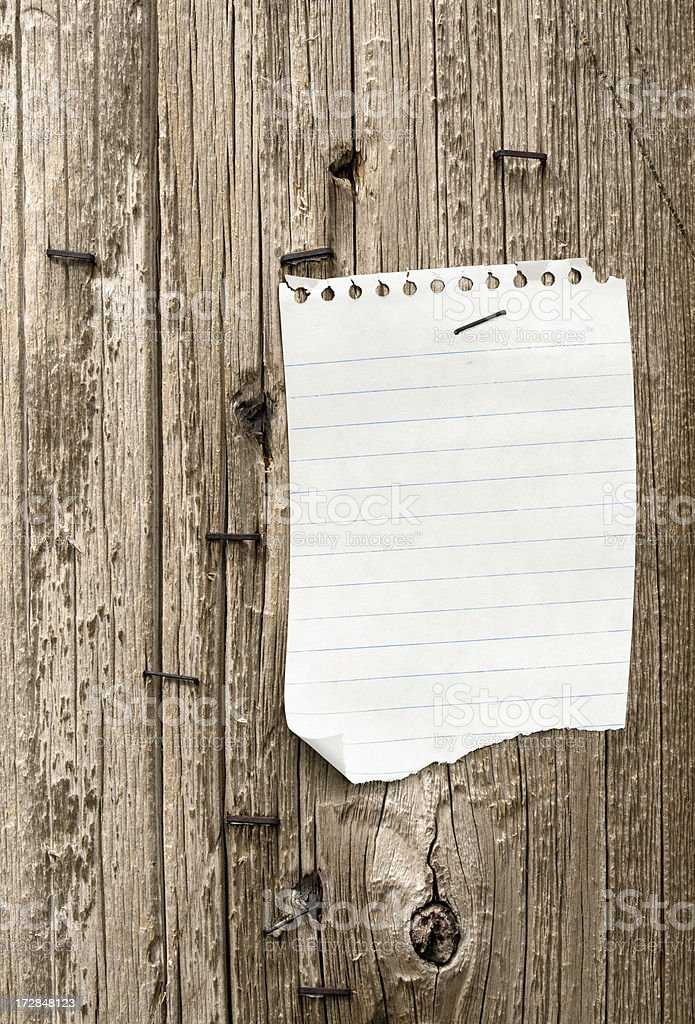 Blank Message On An Old Billboard royalty-free stock photo