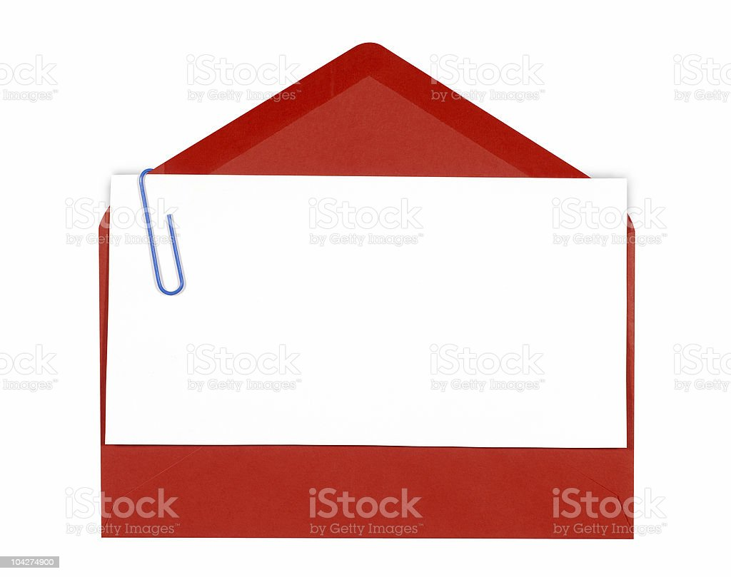 Blank Message Or Invitation Card With Red Envelope Stock Photo Download Image Now