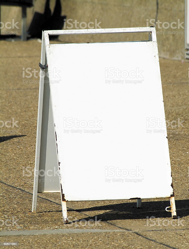 Blank metal A-frame board royalty-free stock photo