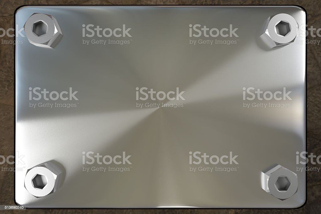 blank metal board stock photo