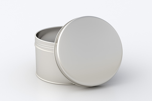 Blank metal round tin container box
