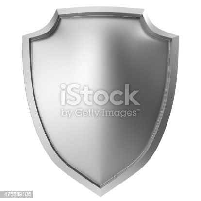 istock Blank metal shield 475889105