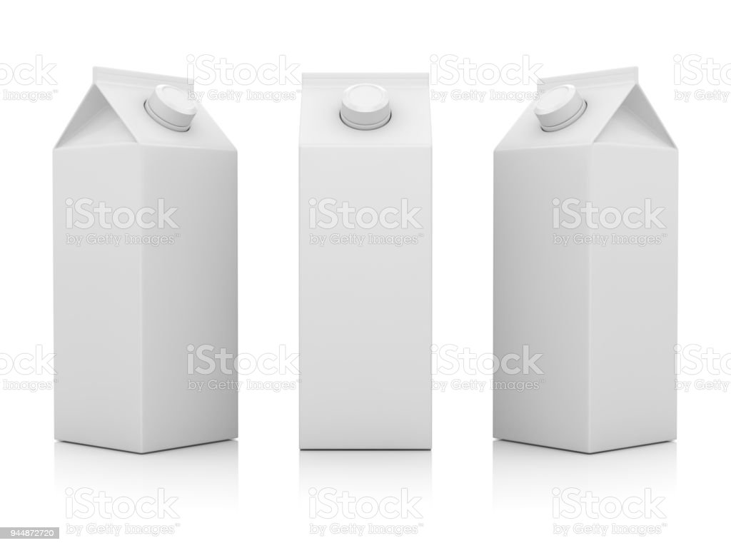 Blank Milk Container stock photo