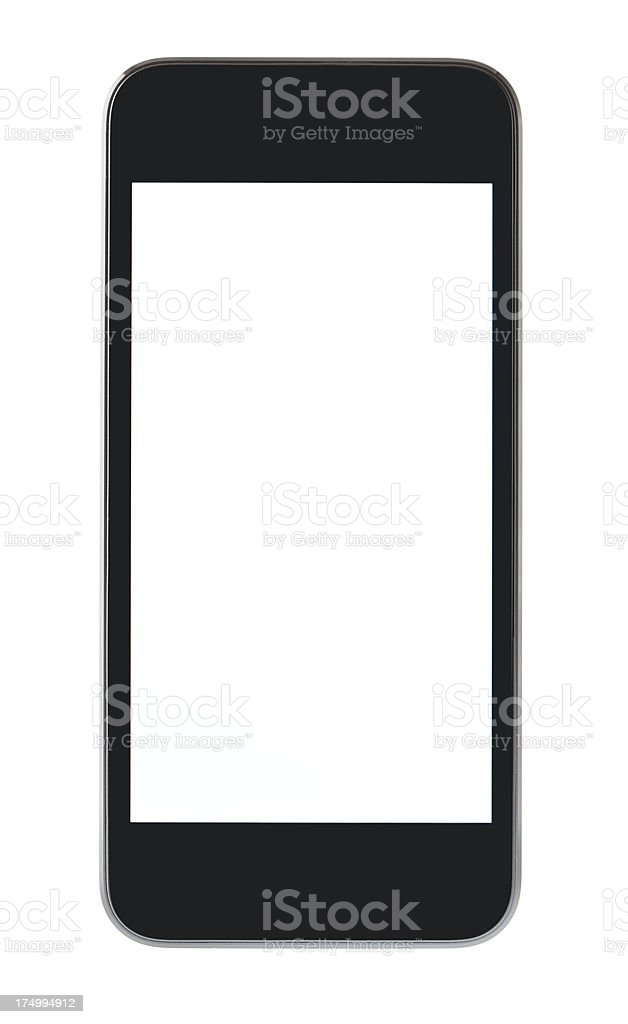Blank mobile phone 2012 royalty-free stock photo