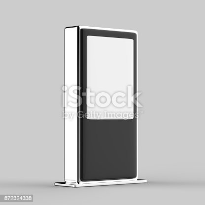 istock Blank Mock up Banner Stand Media Display Signage 872324338