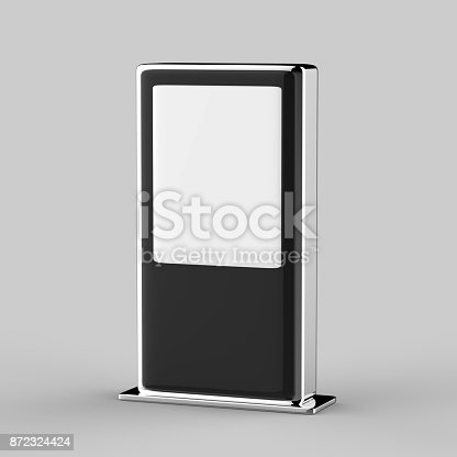 istock Blank Mock up Banner Stand Media Display Signage 872324424