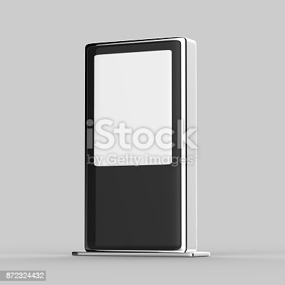 istock Blank Mock up Banner Stand Media Display Signage 872324432