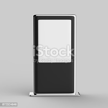 istock Blank Mock up Banner Stand Media Display Signage 872324646