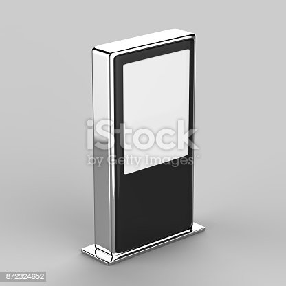 istock Blank Mock up Banner Stand Media Display Signage 872324652