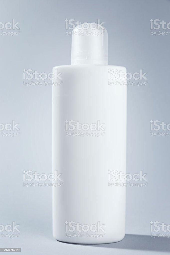 Blank mockup white cosmetic tube package Cream Gel or shampoo. Ready template for your pack design - Zbiór zdjęć royalty-free (Bez ludzi)