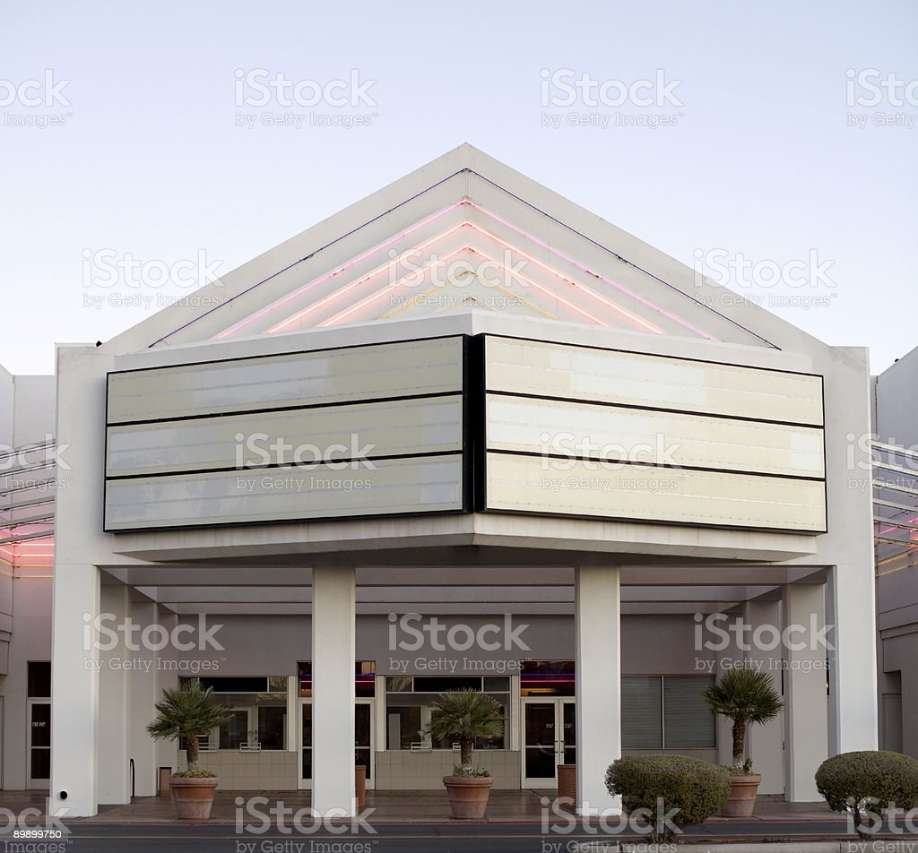 Blank Movie Theater Billboard royalty-free stock photo