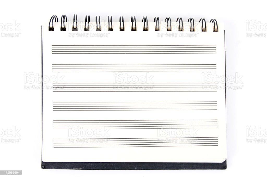 Blank Music Manuscript Pad. stock photo