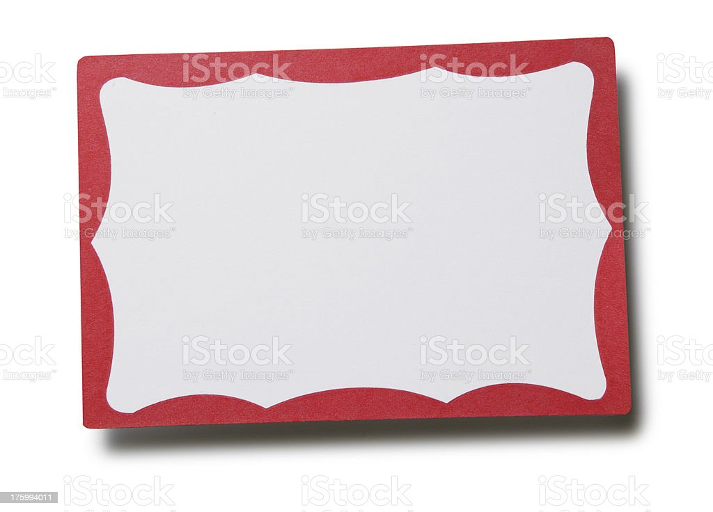 Blank Name Badge royalty-free stock photo