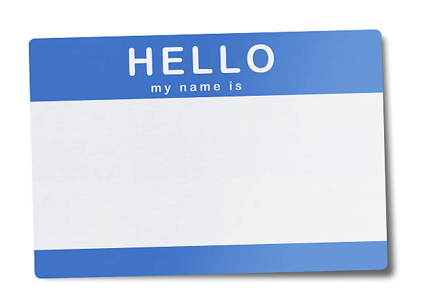 blank name tag (clipping path) - identity stock photos and pictures