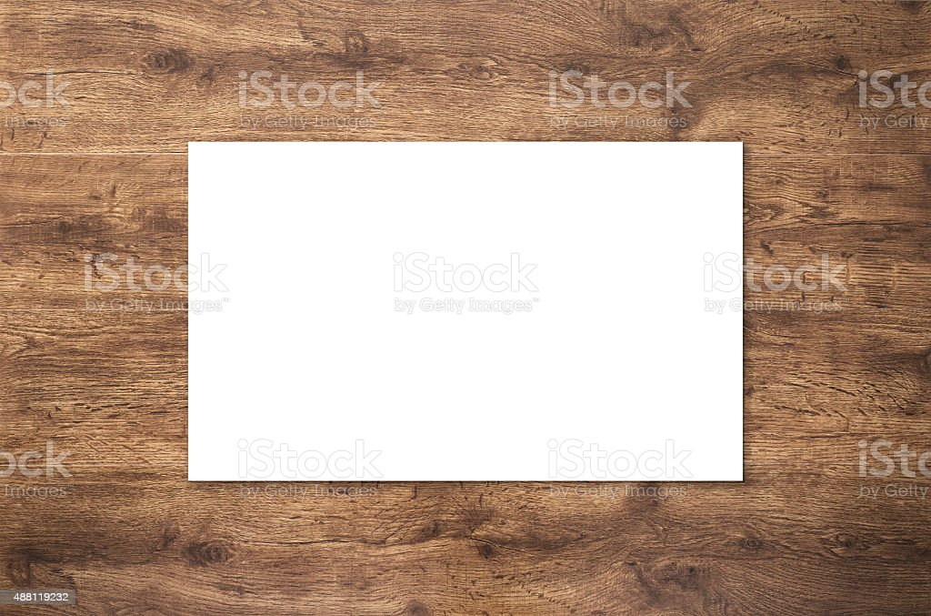 blank namecard stock photo