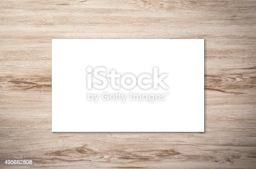 istock blank namecard 495662808
