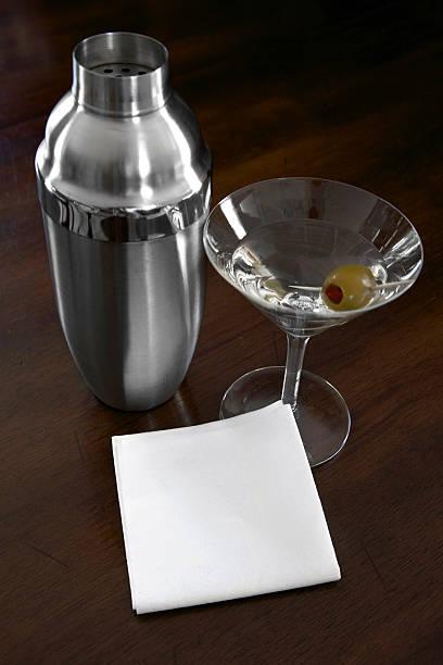 Blank Napkin and Martini stock photo