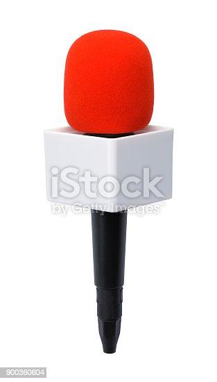 istock Blank News Microphone 900360604