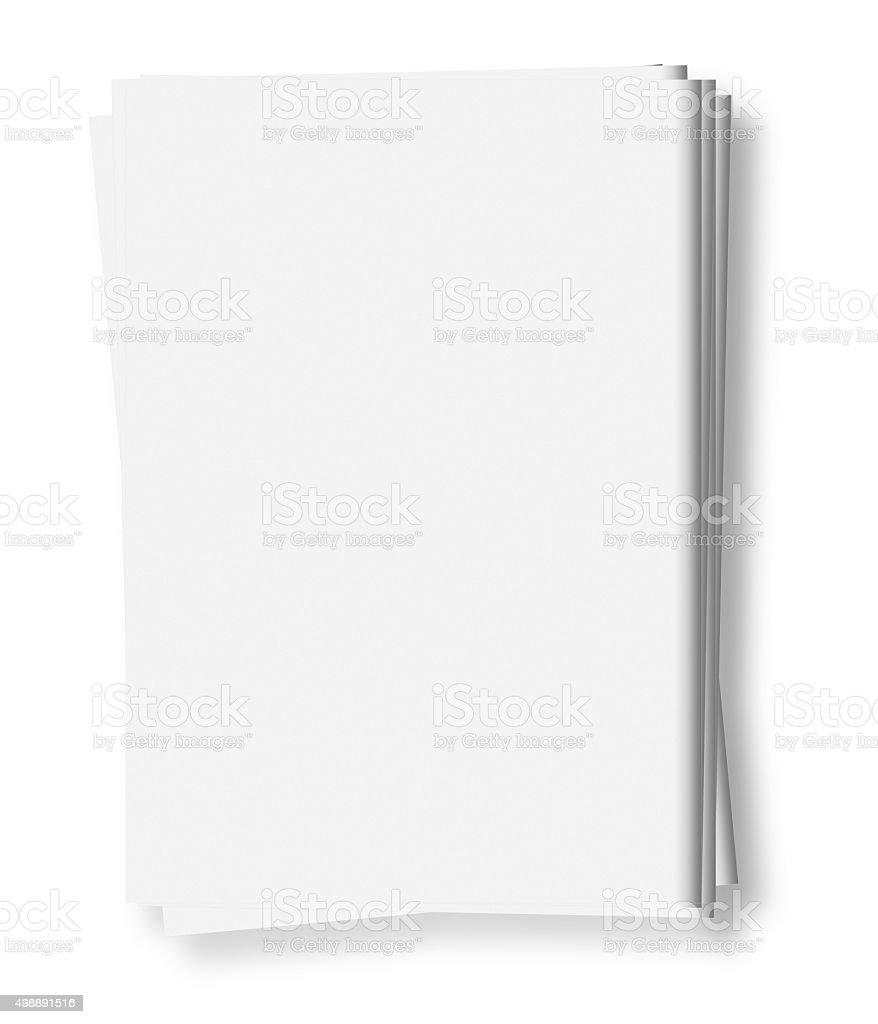 blank news papers stock photo