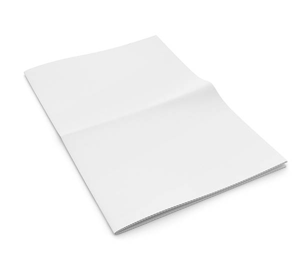 Blank newspaper on white background. – Foto