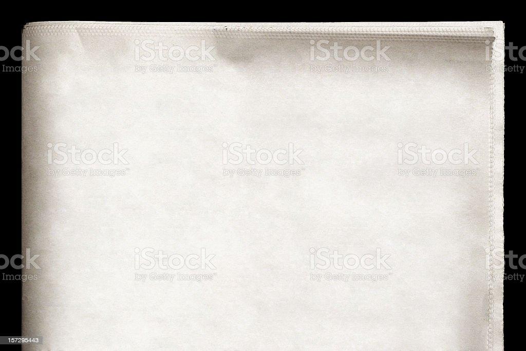 EXTRA! Blank Newspaper royalty-free stock photo