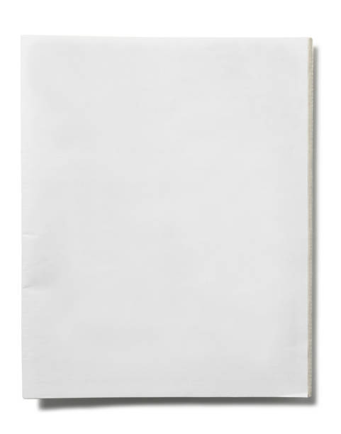 Blank Newspaper stock photo