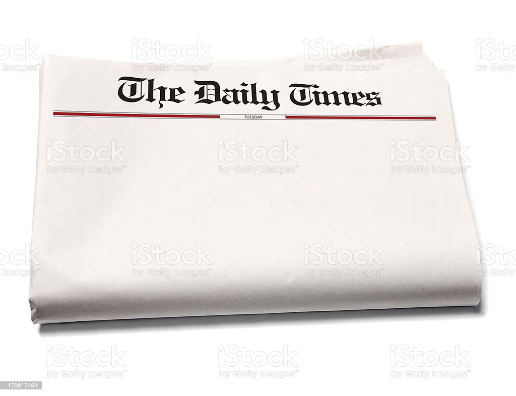 Blank newspaper royalty-free stock photo