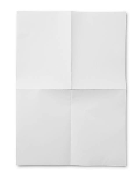 blank newspaper - folded stock photos and pictures