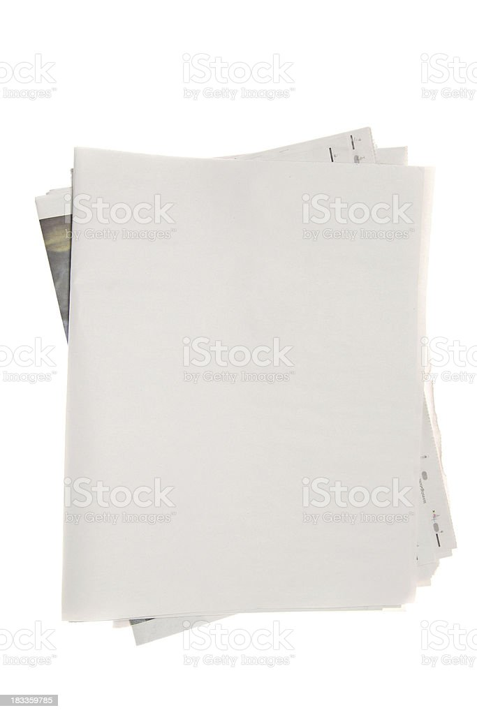 Blank newspaper royalty-free stock photo