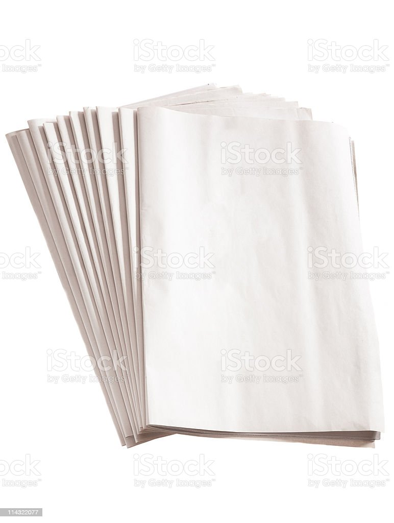 Blank newspaper pile royalty-free stock photo