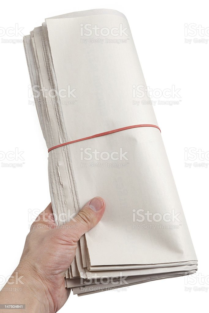 Blank Newspaper Roll stock photo