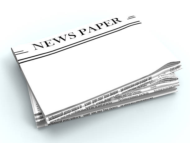 Blank Newspaper With Copyspace Shows News Media Headline Space Blank Newspaper With Copyspace Showing News Media Headline Space front page stock pictures, royalty-free photos & images