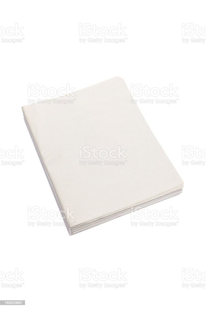 Blank Newspapers... royalty-free stock photo