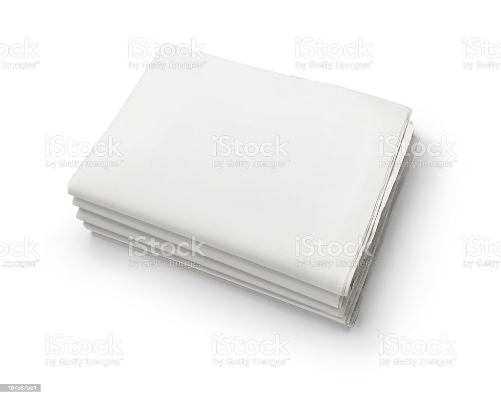 Blank newspapers with copy space royalty-free stock photo
