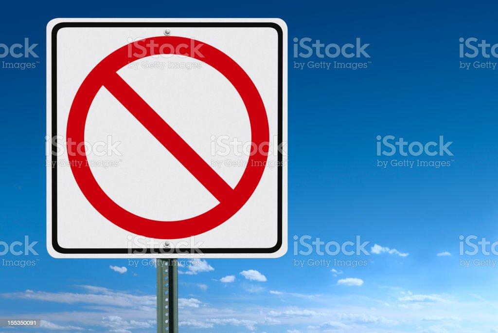 Blank No Sign stock photo