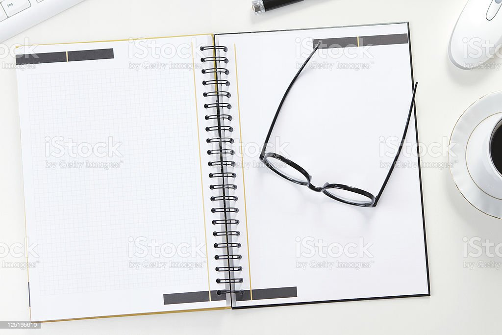 Blank note at the office desk royalty-free stock photo