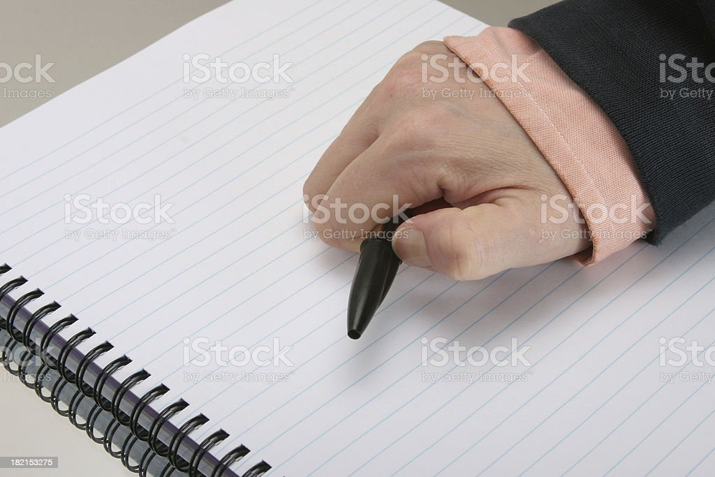 blank note book, no ideas royalty-free stock photo