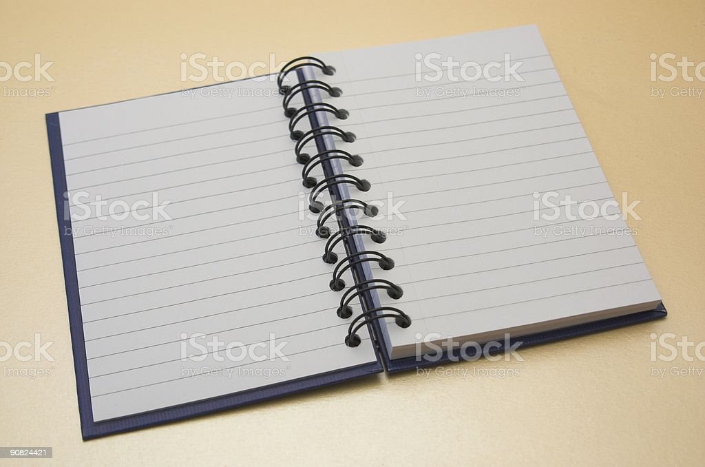 Blank Note Book Open royalty-free stock photo