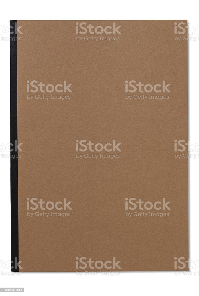 Blank Note Book (with clipping path) stock photo