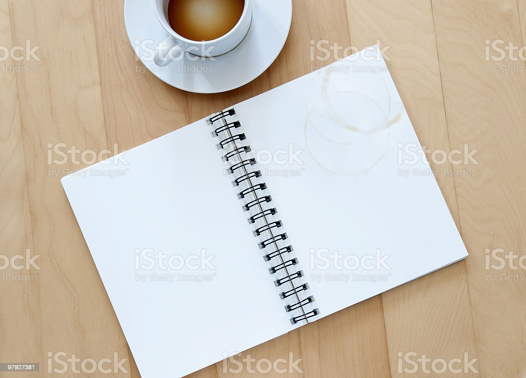 blank note book royalty-free stock photo