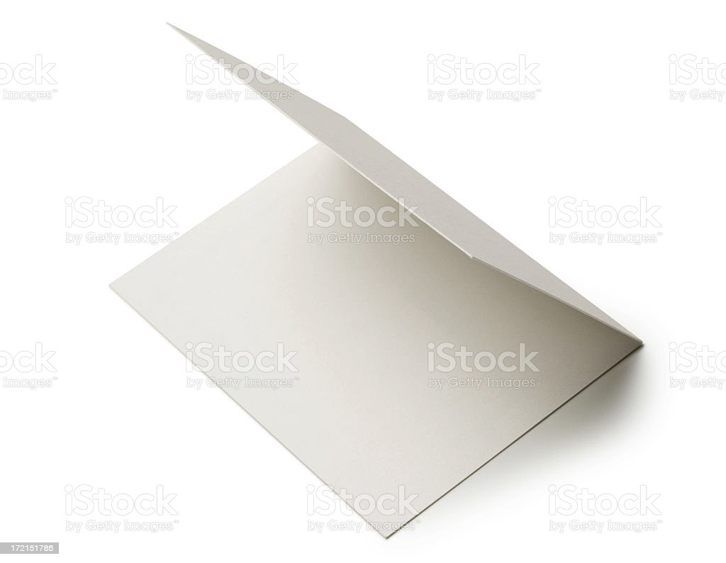 Blank Note Card stock photo