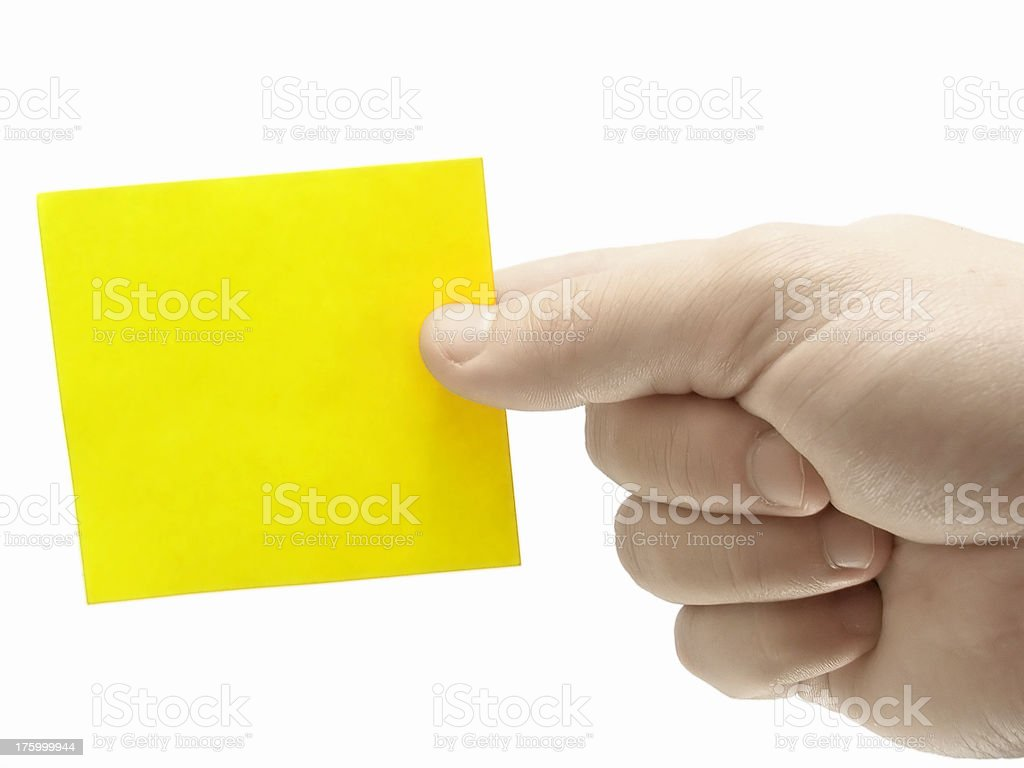 Blank Note Card royalty-free stock photo