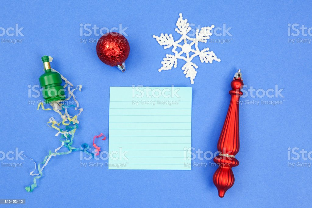 Blank Note or Paper with Celebration Theme stock photo